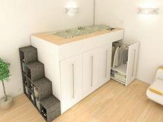 loft łóżko szafa łóżko