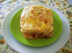 Csirkemelles rakott burgonya Lasagna, Dairy, Cheese, Ethnic Recipes, Food, Essen, Meals, Yemek, Lasagne