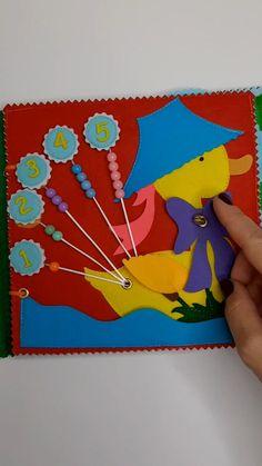 Diy Quiet Books, Baby Quiet Book, Felt Quiet Books, Quiet Book Templates, Quiet Book Patterns, Infant Activities, Activities For Kids, Diy For Kids, Crafts For Kids