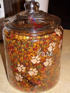 Dog food jar