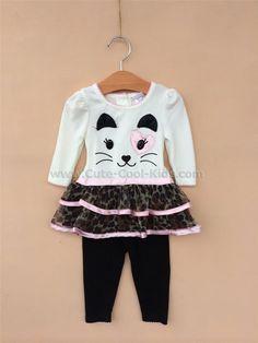 เสื้อผ้าเด็ก ชุดกระโปรง ลายแมว 12M* 24M - - - ,* ,*