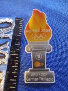 2004 Athens Olympic Media Pin ARD ZDF German TV/Radio