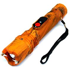 DEFENDER 10 MILLION VOLT TACTICAL FLASHLIGHT STUN GUN RECHARGEABLE - ORANGE CAMO