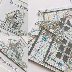 Handmade cards and gifts for special occasions, made in the UK New Home Cards, New Home Gifts, Personalised Gifts Handmade, Framed Maps, Fathers Day Cards, Moving House, Special Gifts, Anniversary Gifts, New Baby Products