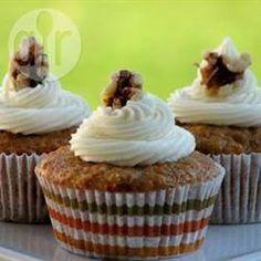 Foto recept: Wortelcupcake met witte chocolade-roomkaasglazuur