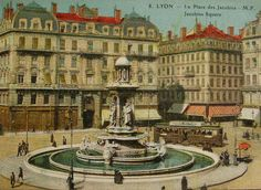 Lyon France 'Jacobins Square'  1920's French by ChicEtChoc on Etsy, $4.50