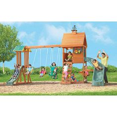 The Stoneybrook Lodge Premium Wooden Swing set from Big ...