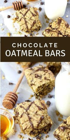 You need to try this delicious Easy Chocolate Oatmeal Bars recipe your whole family will love! With no refined sugar, they're a wholesome and delicious baking idea that's amazing for breakfast or snack time! #oatmeal #baking #breakfast