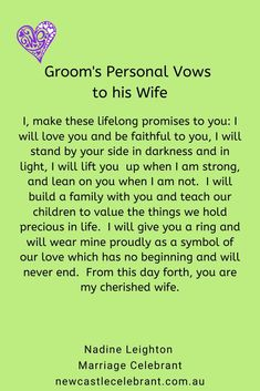 Writing vows can be hard. Talk to me about answering 5 questions about your love for your partner, then simply turning your answers into your personal vow words. Personal Wedding Vows, Unique Wedding Vows, Writing Wedding Vows, Writing Vows, Unique Weddings, Marriage Celebrant, I Am Strong, Stand By You, His Eyes