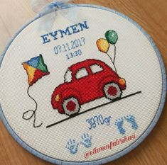Arabalı Bebek Panosu Crochet Curtains, Cute Cross Stitch, Bargello, Cross Stitching, Diy And Crafts, Embroidery, Creative, Pattern, Decor