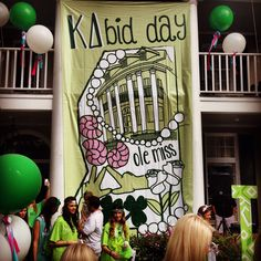 Ole Miss KD Bid Day 2013 AKA the day I made one of the best dedications of my life!