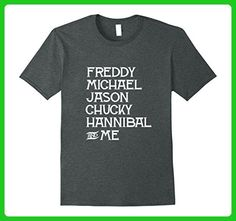 Mens Freddy Michael Jason Chucky Hannibal & Me Halloween T-Shirt Large Dark Heather - Holiday and seasonal shirts (*Amazon Partner-Link)