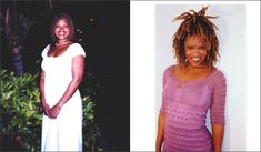 RAW VEGAN BEFORE & AFTER LILIAN BUTLER. At 42 and 46. (www.rawsoul.com)