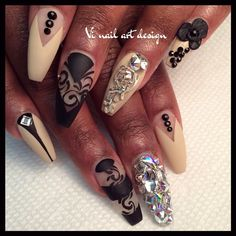 Coffin nail art☻ This design is a strong contender