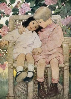 Brothers and Sisters.  Painted by Jessie Wilcox Smith.