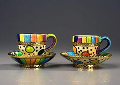 Clown teacups.. Julia Roxburgh. An intact cup on the table is a state of high oder but a broken cup on the floor is chaos