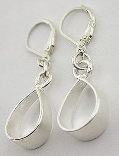 Sterling Silver Lever Back Earrings 20 by 57north on Etsy, $24.99