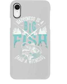 Happiness is A Big Fish And A Witness T-Shirt - Ash #everything #holidays #events fishing rod building, fishing rod decoration, fishing hook tattoo, back to school, aesthetic wallpaper, y2k fashion