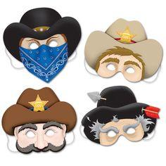 4 masques western pour l'anniversaire de votre enfant - Annikids