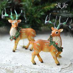 クリスマストナカイセットW0269ST|クリスマス雑貨の通販【マテリ】 |