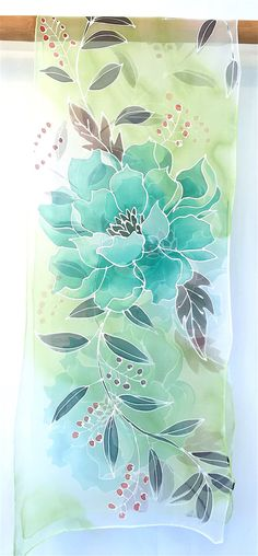 Large Silk Scarf Handpainted Mothers Day Gift от SilkScarvesTakuyo