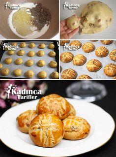 Kuru Üzümlü Kurabiye Tarifi Turkish Tea, Tea Time Snacks, Biscuit Cookies, Pretzel Bites, Baked Potato, Tea Party, Biscuits, Muffin, Tart