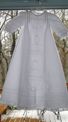 The Old Fashioned Baby Sewing Room: White Wednesday Featuring French Acadian Christening Gown