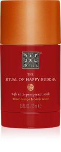 The Ritual of Happy Buddha Anti-Perspirant Stick - anti-perspirant stick Cosmetic Design, Body Odor, Castor Oil, Your Skin, Buddha, Fragrance, Happy, History, Ser Feliz