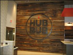 HubBub Coffee Shop at 268 South 38th Street, Philadelphia, Pennsylvania 19104 used horizontal reclaimed barn siding on an accent wall in their shop.  Looks great!