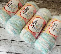 Lot 5 Red Heart Baby Clouds #Yarn Multi Color Pastels Super Bulky Acrylic New #crochet #knitting