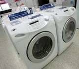 Cleaning a washer-Add 1 quart of  chlorine bleach  - no detergent. Allow the washer to run through its longest wash and spin cycle. Immediately fill the washer with hot water again and add 1 quart distilled  white vinegar . Run the longest wash and spin cycle again.