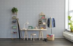 Hey,+bekijk+deze+mural+van+Rebel+Walls,+Perfect+Fit,+Soft+Grey!+#rebelwalls+#behang+#mural