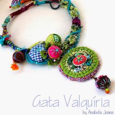 Mixed Media #Textile #Necklace