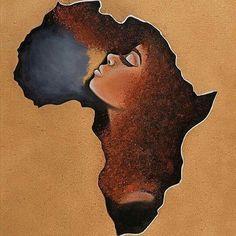 Black Hair Afrocentric Beauty AfrocombYou can find Black women art and more on our website. Black Art Painting, Black Artwork, Black Love Art, Black Girl Art, Afrika Tattoos, Dope Kunst, Arte Black, Afrique Art, African Art Paintings