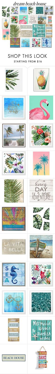 """""""wall decor."""" by downeastgirl88 ❤ liked on Polyvore featuring interior, interiors, interior design, home, home decor, interior decorating, DENY Designs, Frontgate, Pottery Barn and Tracie Andrews"""