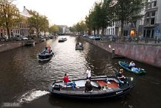 The canals of Amsterdam are really cute!