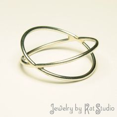 """silver """"infinity double"""" ring, handmade by Kat Studio"""