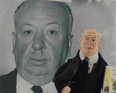 Alfred Hitchcock Doll Miniature Suspense Movie Film