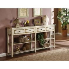 Superieur @Overstock.com   Aiden Antique Grey Console Table   Pretty Up A Hallway Or  Living Room Wall With The Country Fresh Grey Painted Aiden Console Tableu2026