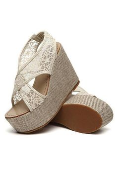 Wrapped Lace Cut Out Wedges!