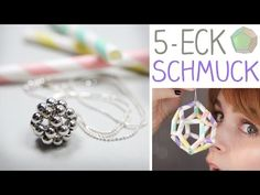 DIY Schmuck/Deko aus Fünfecken - Perlen, Strohhalme - alive4fashion - YouTube