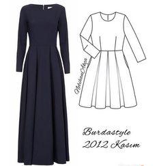 Про длинное платье: варианты, схемы, модели...