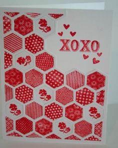 FS362 XOXO Hexagons by bwstamper - Cards and Paper Crafts at Splitcoaststampers