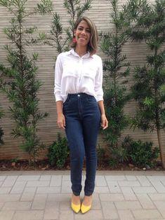 b3fcf1641a97a  armariocapsula Look Eliza Montes  capsulewardrobe Look Com Sapatos  Amarelos