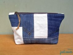 Upcycling: Jeans-Patchwork-Täschchen