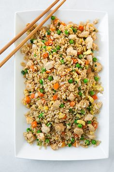 Chicken Fried Rice —made with brown rice and lots of veggies