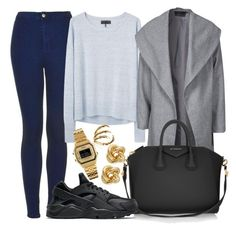"""""""Untitled #427"""" by livuka ❤ liked on Polyvore featuring moda, Topshop, rag & bone, ONLY, Givenchy, NIKE, R.J. Graziano, Bernard Delettrez, Casio ve women's clothing"""