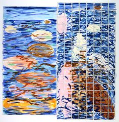 Jennifer Bartlett, Study for Swimmers Atlanta:  Seaweed,1979, watercolor, enamel, pen and ink, and pencil on paper, transfer from the General Services Administration, Art-in-Architecture program