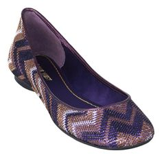 Purple and gold flats!