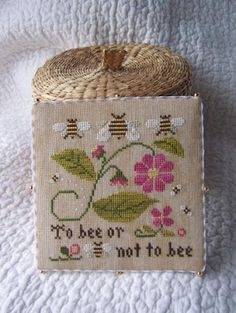 Bee Sampler, details of threads used etc. from Little House Needlework - listed under 'Garden', here: http://www.littlehouseneedleworks.com/crossstitchcharts/garden.html